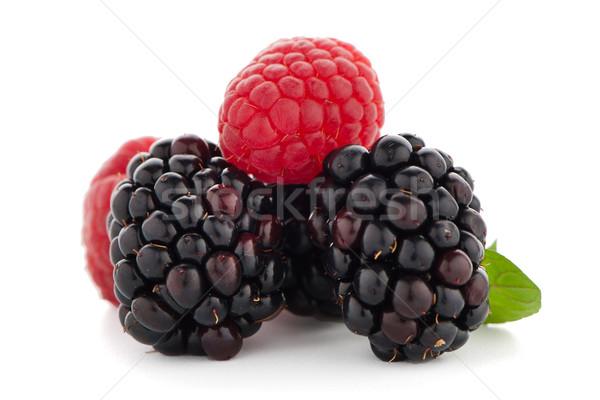 Raspberry with blackberry  Stock photo © homydesign