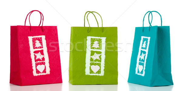 Three paper bags Stock photo © homydesign