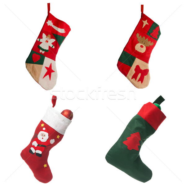 Christmas red stockings Stock photo © homydesign