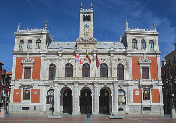 Cidade ouvir fachada ver edifício Foto stock © homydesign