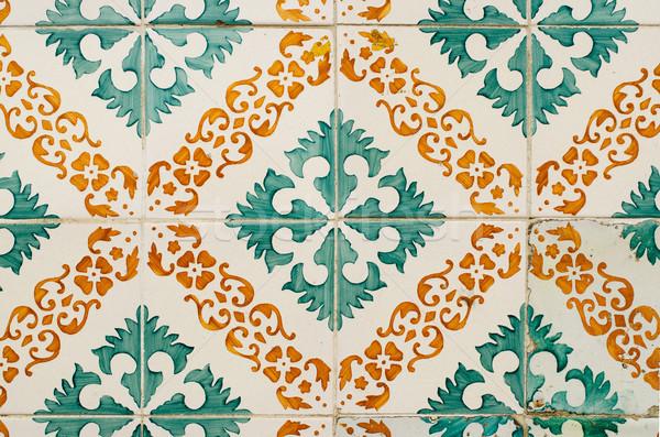 Oude tegels detail abstract patroon textuur Stockfoto © homydesign