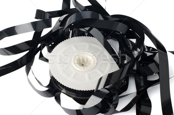Köteg fehér tükröződő film technológia háttér Stock fotó © homydesign