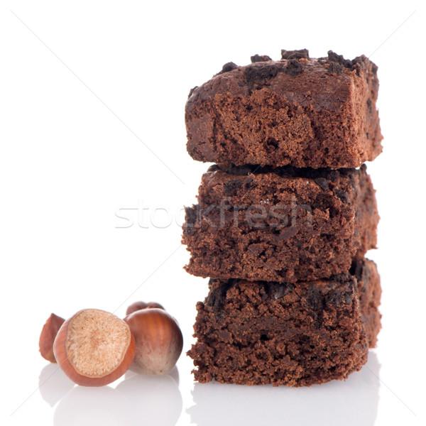 Stock photo: Chocolate brownies