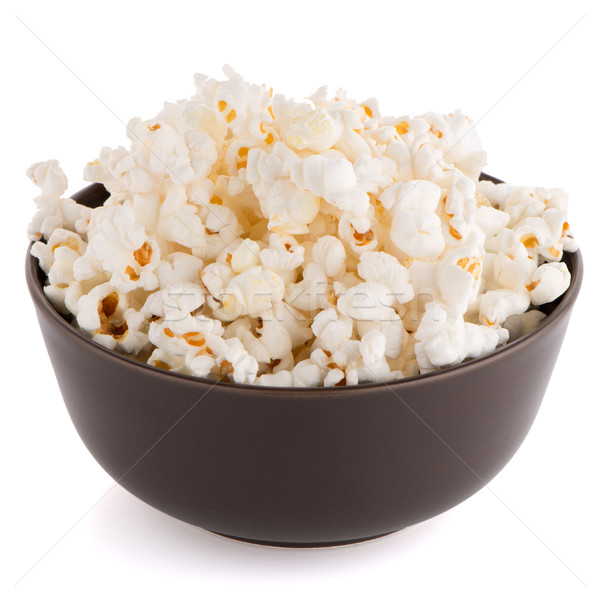 попкорн коричневый чаши белый телевидение фильма Сток-фото © homydesign