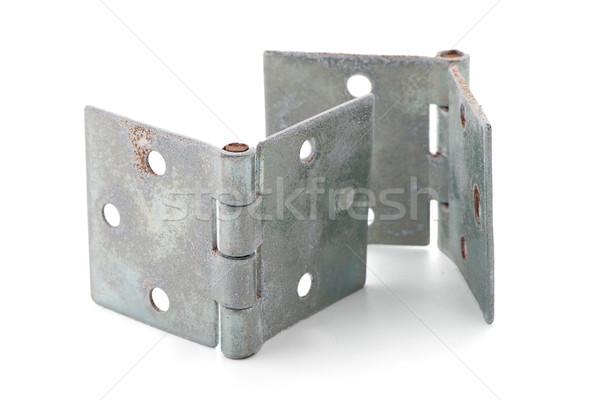 Dois porta isolado branco casa construção Foto stock © homydesign