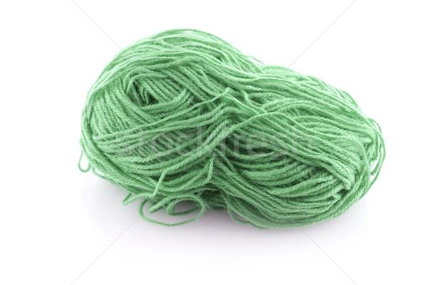 Green ball knitting wool Stock photo © homydesign