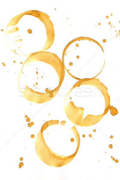 Collection of coffee splashes and stains Stock photo © homydesign