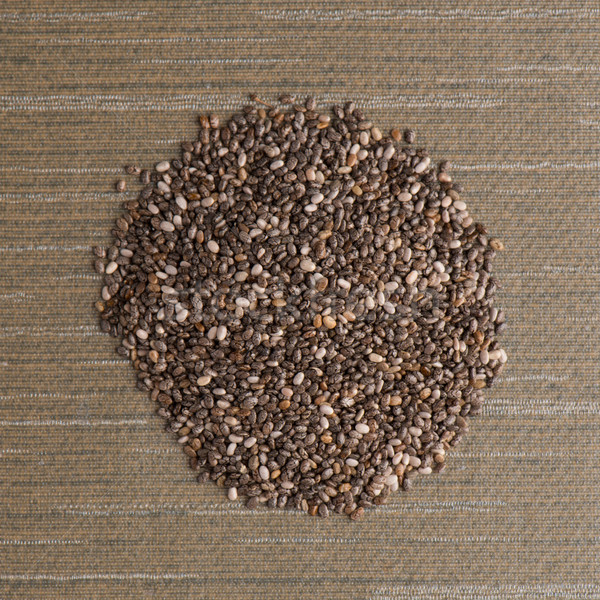 Circle of chia seeds Stock photo © homydesign