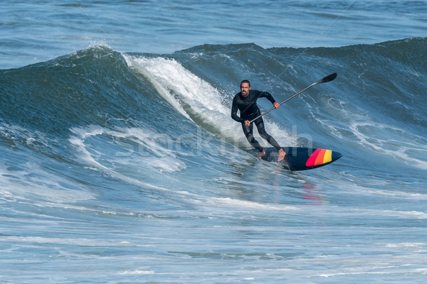 Stand up paddle surfer Stock photo © homydesign