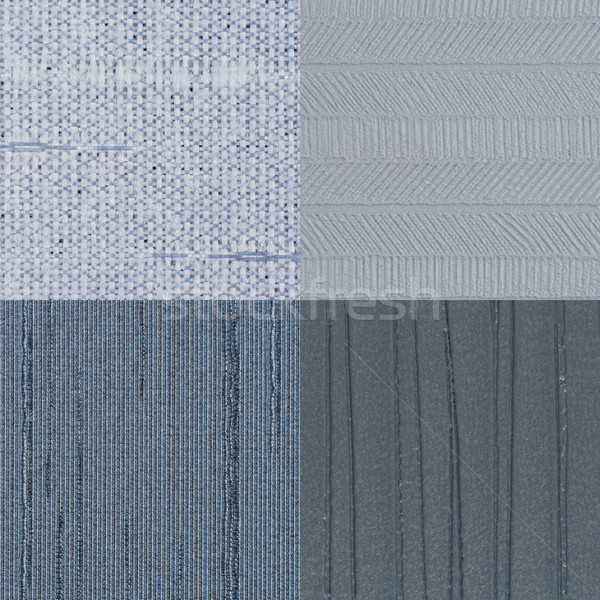 Conjunto azul vinil textura parede Foto stock © homydesign