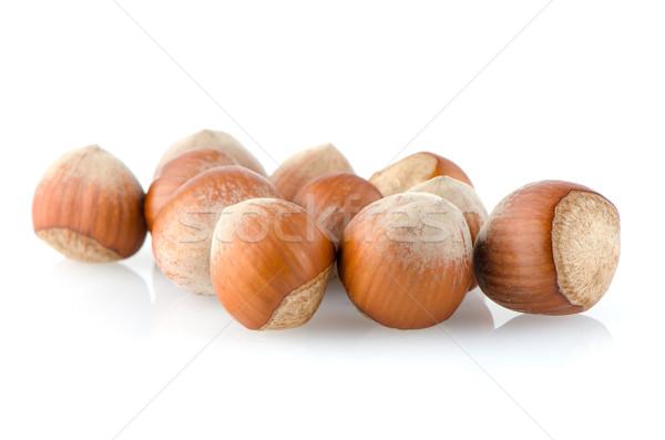 Fresh hazelnuts  Stock photo © homydesign