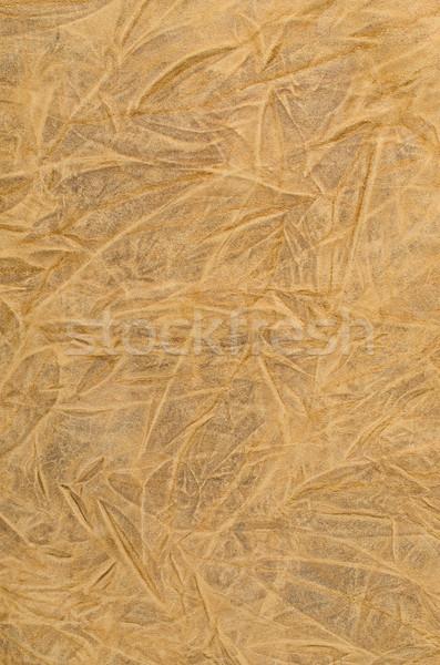 Bruin leder textuur rimpel abstract Stockfoto © homydesign