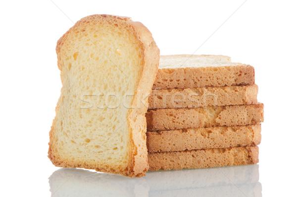 Golden brown toast Stock photo © homydesign