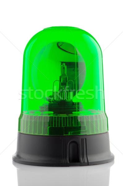 Green rotating beacon  Stock photo © homydesign