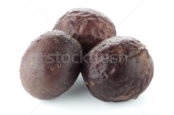 Pasja owoce dojrzały biały Zdjęcia stock © homydesign