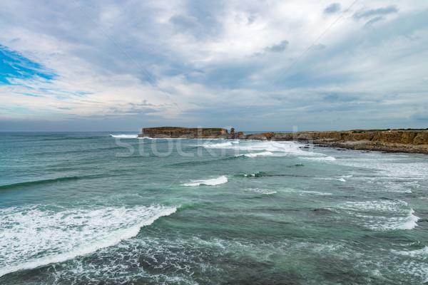 Mer roches Portugal vue océan Photo stock © homydesign