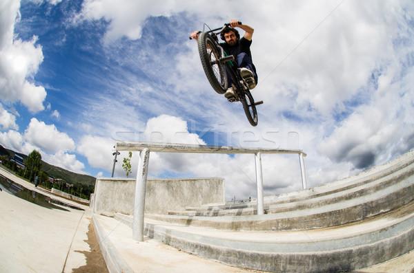 Bmx big air jump Stock photo © homydesign