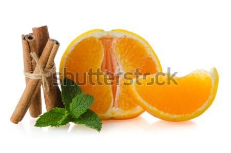 1 オレンジ果実 セグメント 孤立した 白 フルーツ ストックフォト © homydesign