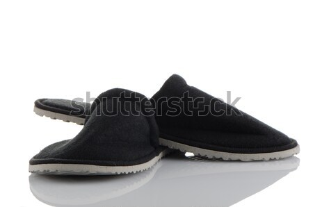 A pair of grey slippers Stock photo © homydesign