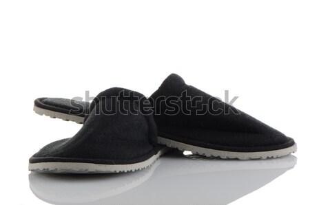 Paar grijs slippers witte huis ontwerp Stockfoto © homydesign