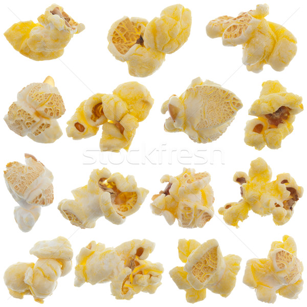 Popped kernels of pop corn snack Stock photo © homydesign
