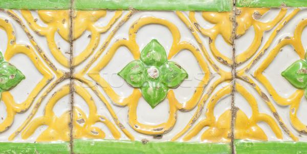 Portuguese glazed tiles 159 Stock photo © homydesign