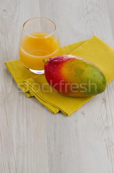 Fresco manga suco fruto comida beber Foto stock © homydesign