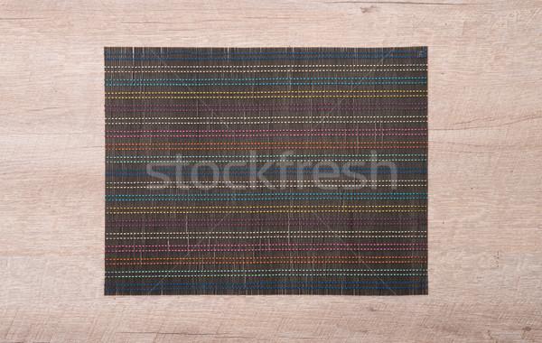 Bamboo place mat Stock photo © homydesign
