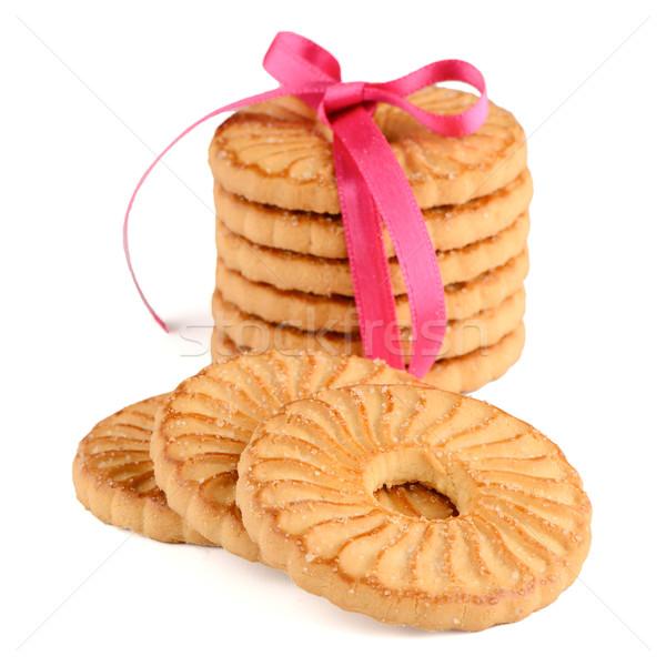 Stockfoto: Feestelijk · ringen · biscuits · geïsoleerd · witte