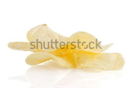 картофельные чипсы белый продовольствие фон Сток-фото © homydesign