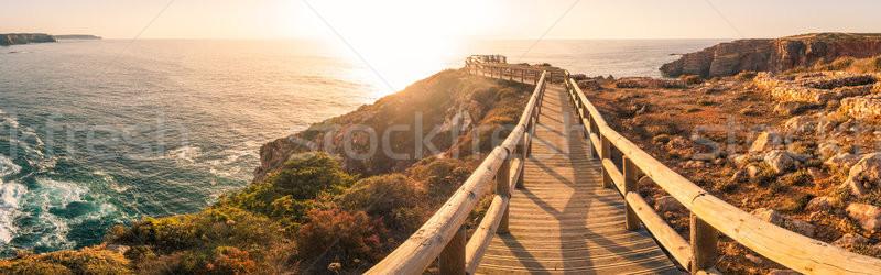 Gün batımı Portekiz yaz sahil görmek Stok fotoğraf © homydesign