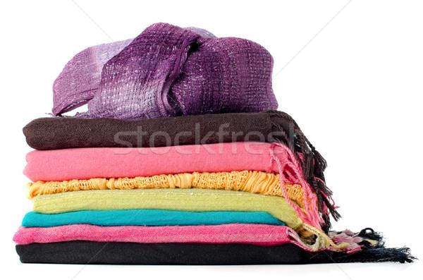 Stok fotoğraf: Renkli · arka · plan · elbise · gömlek · bez