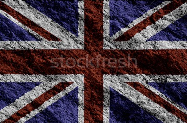 Regno Unito bandiera grunge texture rock nero Foto d'archivio © homydesign