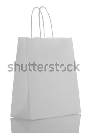 White  paper bag Stock photo © homydesign