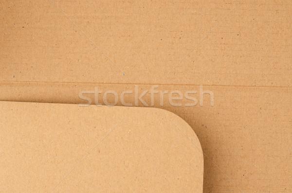 Carta marrone carta bordo primo piano texture carta Foto d'archivio © homydesign