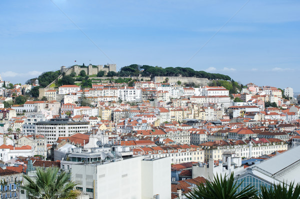 Панорама Лиссабон Португалия замок здании Skyline Сток-фото © homydesign