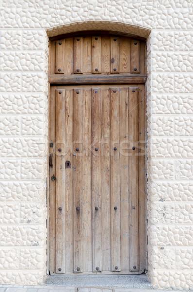 Old wooden entrance door Stock photo © homydesign