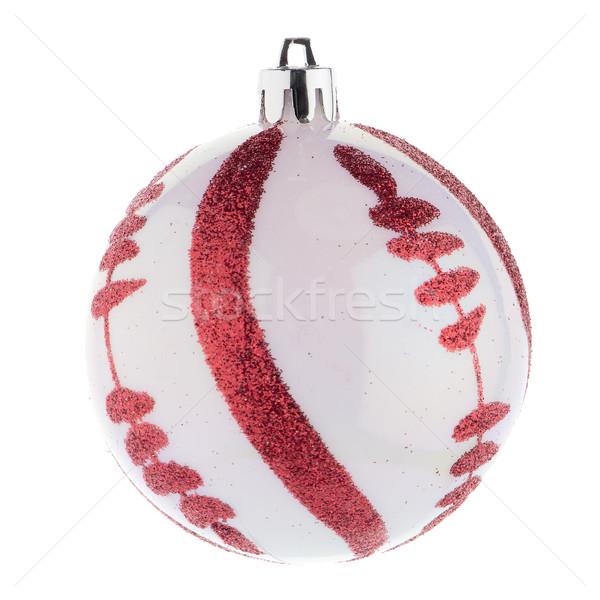 Rot Weihnachten Spielerei weiß Bereich Ornament Stock foto © homydesign