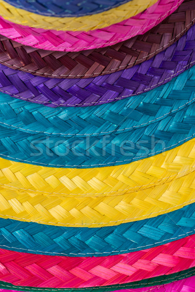 Colorful background of woven straw Stock photo © homydesign