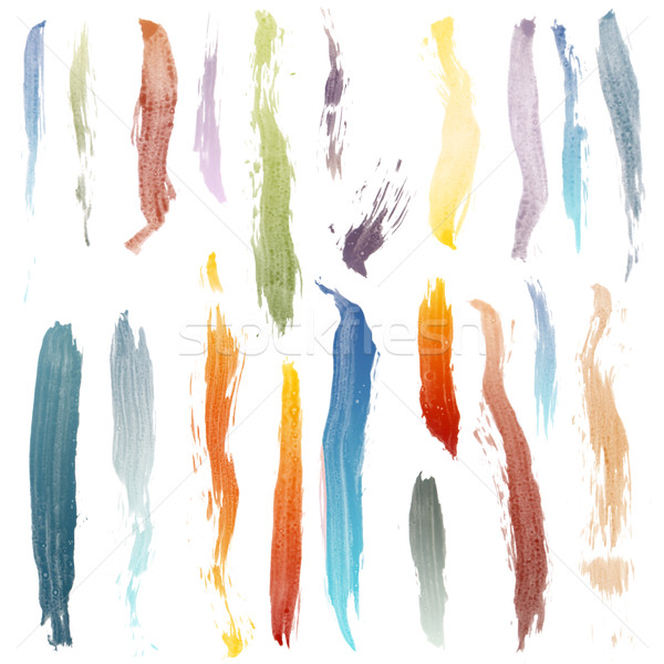 Brush strokes Stock photo © homydesign
