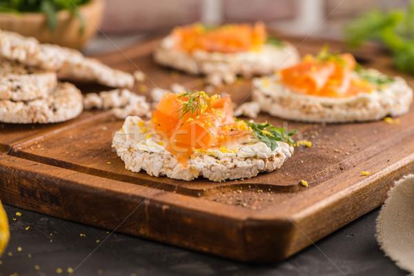 コメ パン クリーム チーズ ストックフォト © homydesign