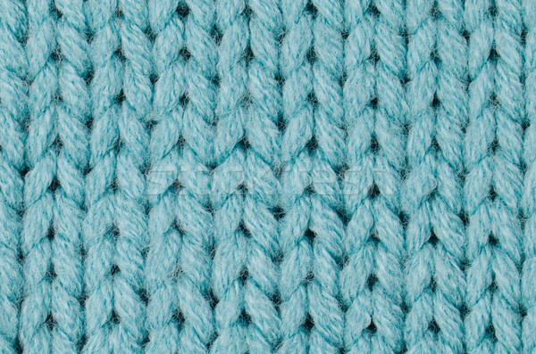 Blue knitted wool Stock photo © homydesign