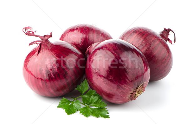 Red onions Stock photo © homydesign