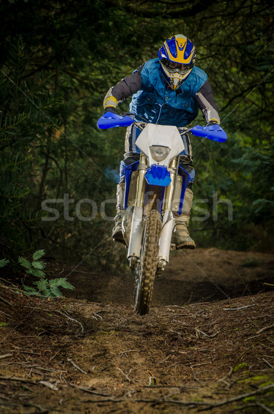Bicikli tevékenység kicsi sáros terep égbolt Stock fotó © homydesign
