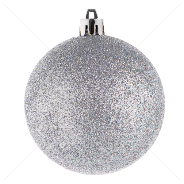 Silver christmas ball Stock photo © homydesign