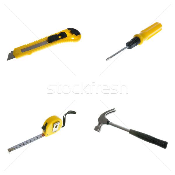ナイフ ネジ ドライバ テープ ハンマー セット ストックフォト © homydesign