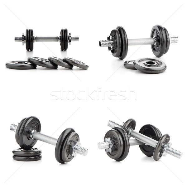Dumbbell weights Stock photo © homydesign