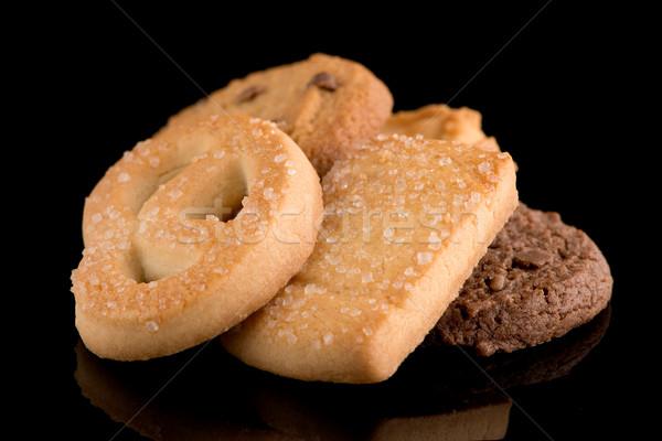 Beurre cookies noir isolé manger Photo stock © homydesign