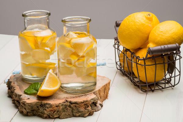 Limão cal fatias verão comida Foto stock © homydesign