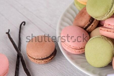 Macarons французский Cookies кремом Сток-фото © homydesign